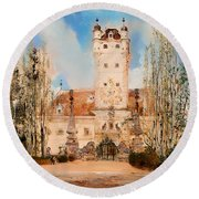 Greillenstein Castle Round Beach Towel