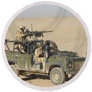 Gurkhas Patrol Afghanistan In A Land Round Beach Towel