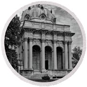 Handley Library - Winchester Virginia Round Beach Towel
