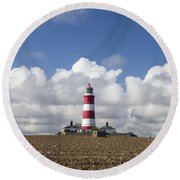 Happisburgh Lighthouse Round Beach Towel