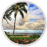 Hawaii Pardise Round Beach Towel