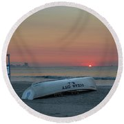 Here Comes The Sun - Ocean City New Jersey Round Beach Towel