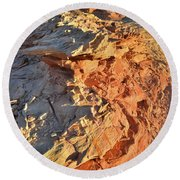 High Above Wash 3 In Valley Of Fire Round Beach Towel