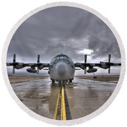 High Dynamic Range Image Of A U.s. Air Round Beach Towel by Terry Moore