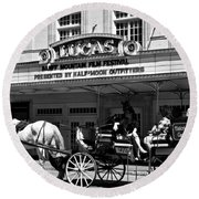 Historic 1920s Revived Lucas Theater Round Beach Towel