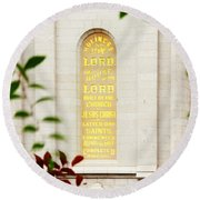 Holiness To The Lord Round Beach Towel