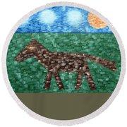 Horse Round Beach Towel by Patrick J Murphy