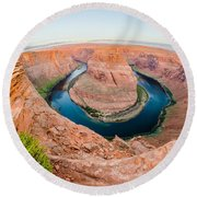 Horseshoe Bend Near Page Arizona Round Beach Towel