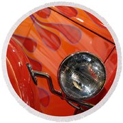 Hot Rod Ford Coupe 1932 Round Beach Towel