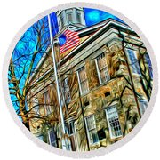 Howard County Courthouse Round Beach Towel