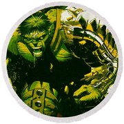 Hulk Round Beach Towel