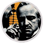I Want You To Kill Him Round Beach Towel by Luis Ludzska