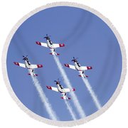 Iaf Acrobatic Team Round Beach Towel