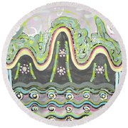 Ilwolobongdo Abstract Landscape Painting2 Round Beach Towel