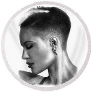 Halsey Drawing By Sofia Furniel Round Beach Towel