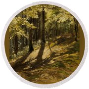 In A Forest Round Beach Towel