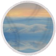 In Flight Two  Round Beach Towel