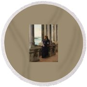 In The Belfry Of The Campanile Of St Marks Venice Henry Woods Round Beach Towel