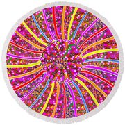 Infinity Star Flower An Abstract Fineart Expression By Navinjoshi At Fineartamerica.com Colorful Spe Round Beach Towel