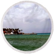Island Harbor Round Beach Towel