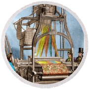 Jacquard Loom For Weaving Textiles Round Beach Towel