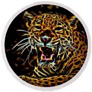 Jaguar Round Beach Towel