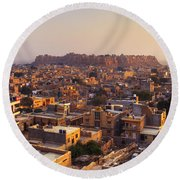 Jaisalmer - India Round Beach Towel