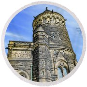 James A. Garfield Memorial Round Beach Towel