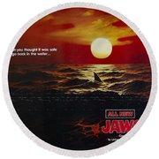 Jaws 2 1978  Round Beach Towel