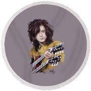 Jimmy Page 1 Round Beach Towel