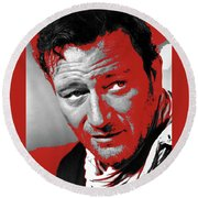 John Wayne 3 Godfathers Publicity Photo 1948-2013 Round Beach Towel