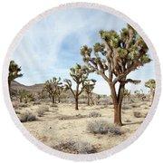 Joshua Tree National Park, California Round Beach Towel