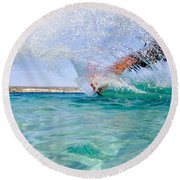 Kitesurfing Round Beach Towel by Stelios Kleanthous