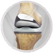 Knee Replacement Round Beach Towel