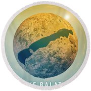 Lake Balaton 3d Little Planet 360-degree Sphere Panorama Round Beach Towel