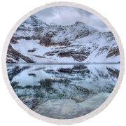 Lake Mcarthur Reflection Panoramic Round Beach Towel