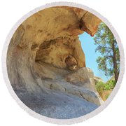 Landscape In Joshua Tree National Park Round Beach Towel
