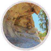 Landscape In Joshua Tree National Park Round Beach Towel