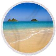 Lanikai, Mokulua Islands Round Beach Towel