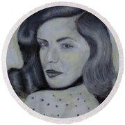 Lauren Bacall Round Beach Towel