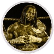 Lennox Lewis Collection Round Beach Towel