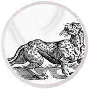 Leopard Round Beach Towel