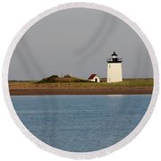 Lighthouse Provincetown  Round Beach Towel