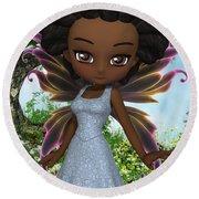 Lil Fairy Princess Round Beach Towel