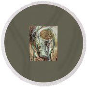 Looking For Hope In A Hopeless Place Round Beach Towel