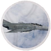 Lufwaffe F-4f Phantom Round Beach Towel