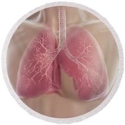Lungs Round Beach Towel