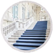 Luxury Interior In Palazzo Madama, Turin, Italy Round Beach Towel
