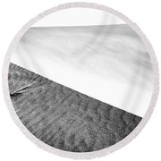 Magnificent Sandy Waves On Dunes At Sunny Day Round Beach Towel