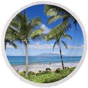 Makena, Maluaka Beach Round Beach Towel